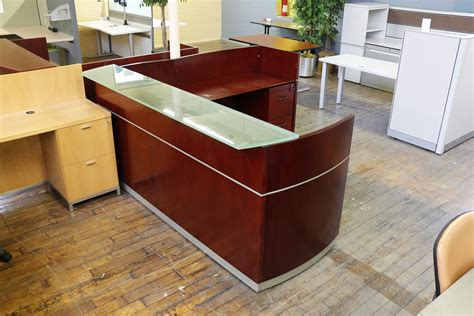 Napoli Reception Desk Mayline Napoli Reception Desk Peartree Office Furniture