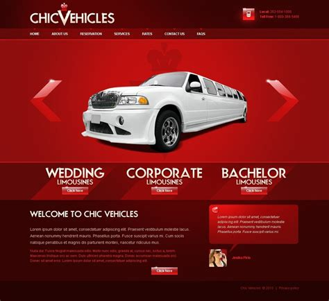 limousine website limousine services website template 27297