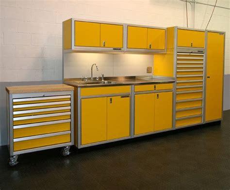 Yellow Garage Cabinets Yellow Garage Storage Cabinets Garage Ideas