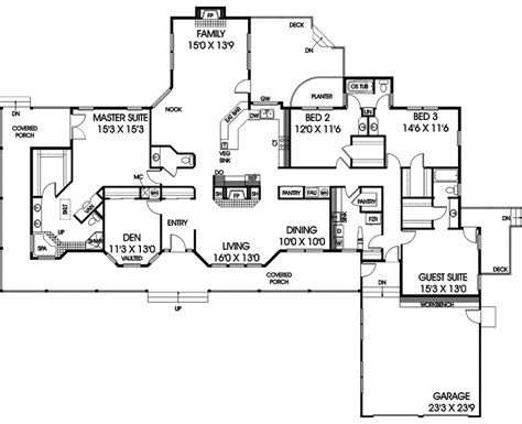 forte luxury ranch home plan 085d 0406 house plans and more