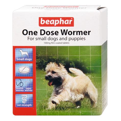 worming puppies beaphar worming tablets one dose multi wormer tablets for puppies dogs ebay