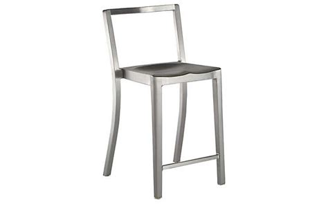 brushed aluminum counter stools gesall tell a tolix stool design within reach