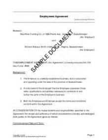 employment agreement canada legal templates