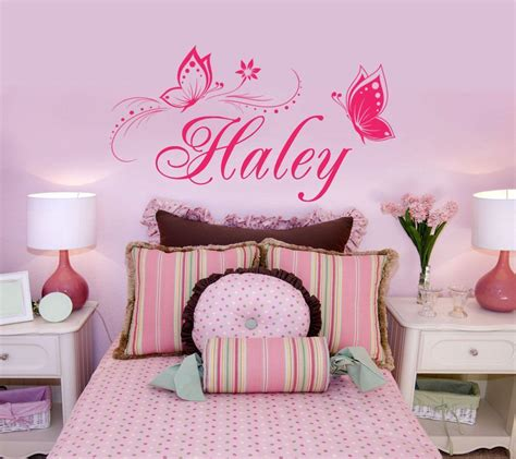 room decals personalized name butterfly wall stickers for room decor vinyl wall decal home decoration