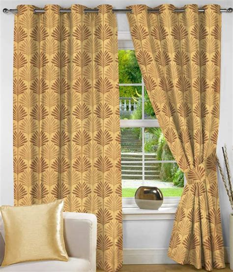 gold floral curtains nuhome decor gold floral poly cotton eyelet curtain set of 4