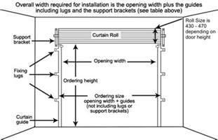 gliderol roller door dimensions