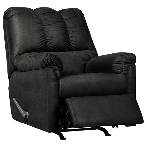 signature design  ashley darcy black rocker recliner