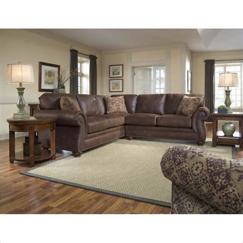 broyhill laramie sectional broyhill laramie 2 piece sectional sofa with cherry wood