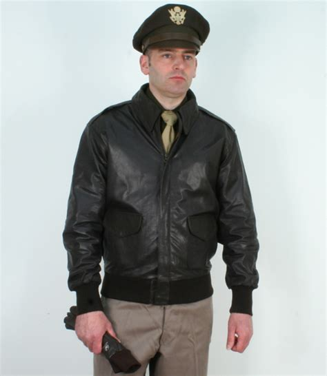 Jaket Bomber Pria X U A us a2 leather pilots jacket