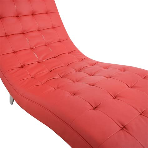second hand chaise lounge 82 off red tufted chaise lounge sofas