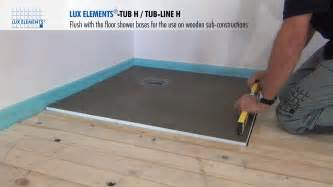 flush shower elements installation flush with the floor shower