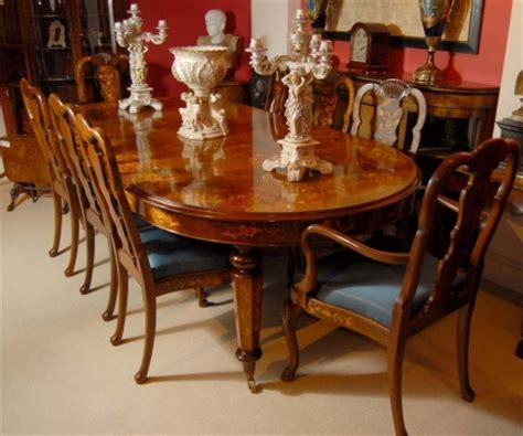Dining Room Table 8 Chairs by 8 Foot Italian Marquetry Dining Table 8 Queen Anne Chairs