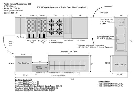 concession stand floor plans food truck floor plans find floorplans for your food truck