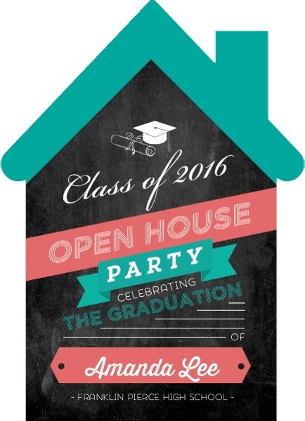 college house ideas graduation open house invitation wording ideas college high school