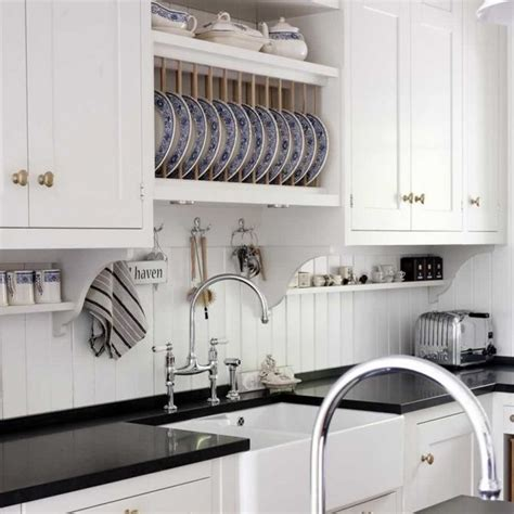 plate backsplash pretty kitchen with beadboard backsplash built in plate rack and small cabinet wall
