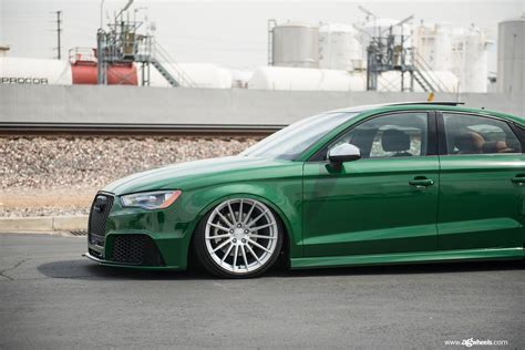 Audi A3 Stance by Green Audi A3 Has Rs3 Bumper Cool Stance And Trunk