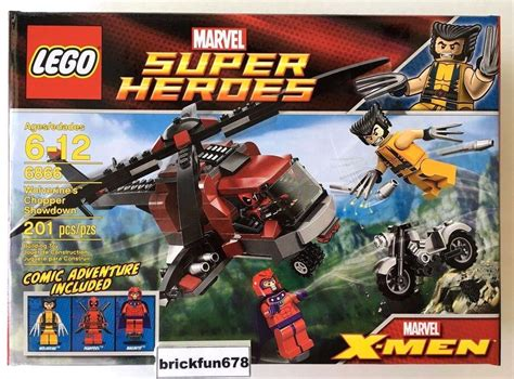 imagenes de lego marvel wolverine lego marvel 6866 wolverine s chopper showdown deadpool new