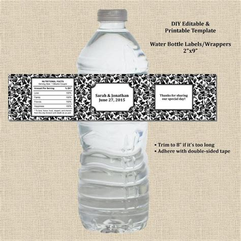 95 Best Images About Water Bottle Labels On Pinterest Personalized Water Bottle Labels Water Water Bottle Wrapper Template