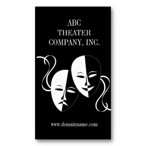theater business card templates 18 best business cards for actors images on