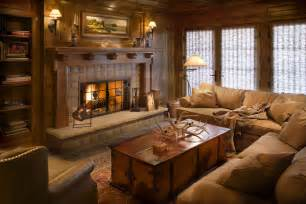 traditional family room get cozy a rustic lodge style living room makeover