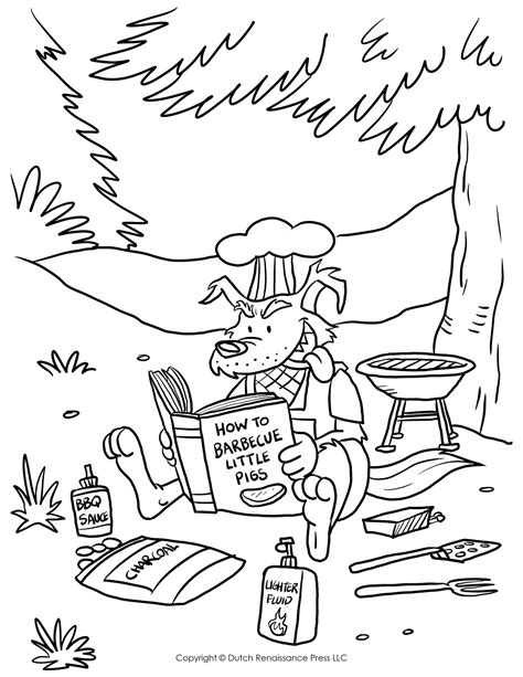 Three Little Pigs Coloring Pages The Three Little Pigs Story And The Wolf Coloring Page3s