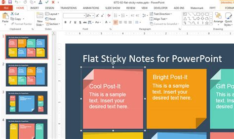 Powerpoint Notes Template by How To Add Custom Sticky Notes To Powerpoint Presentations
