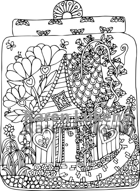 printable fairy house fairy house 3 1 adult coloring book page printable