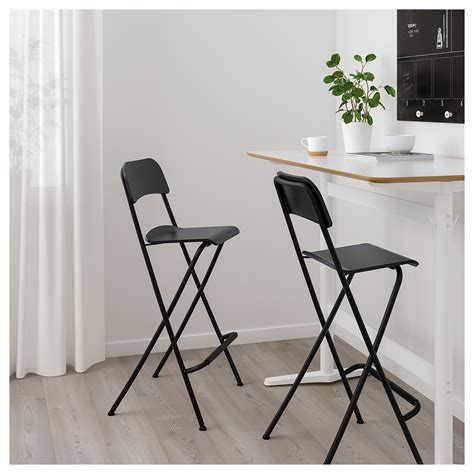 Bar Stool With Backrest Foldable by Franklin Bar Stool With Backrest Foldable Black Black 74