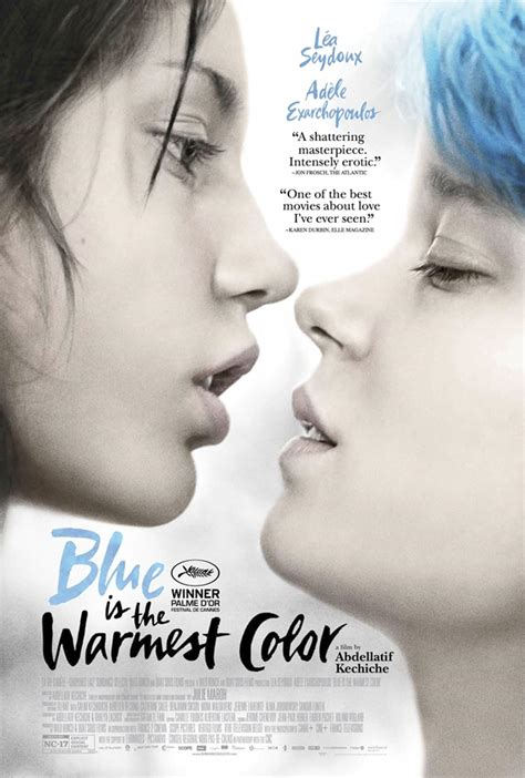 blue warmest color trailer and poster for nc 17 drama blue is the