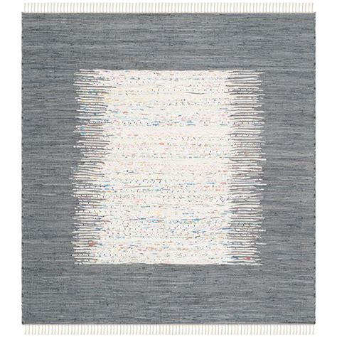 4 square rug safavieh montauk ivory grey 4 ft x 4 ft square area rug mtk711g 4sq the home depot