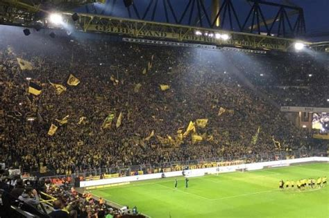 signal iduna park away section dortmund s yellow army behind their comeback win latest
