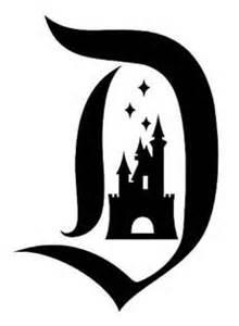 disneyland letter d with castle vinyl car decal new ebay