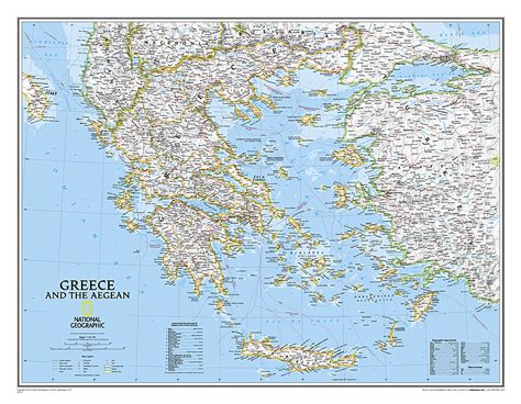 scotland classic laminated national geographic reference map books greece classic laminated