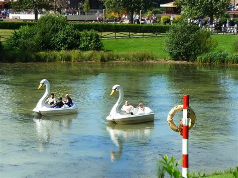swan boats uk swan boats at lightwater valley theme park in ripon