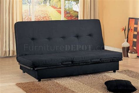 Black Convertible Sofa Bed With Storage Space Sofa Beds With Storage Space