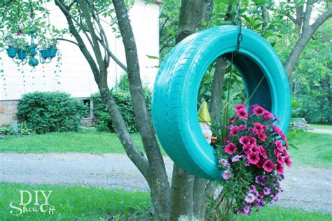 How To Make Tire Planters by Diy Tire Planter Tutorialdiy Show Diy Decorating