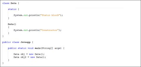 Java Pattern Constructor | order execution static block constructor java