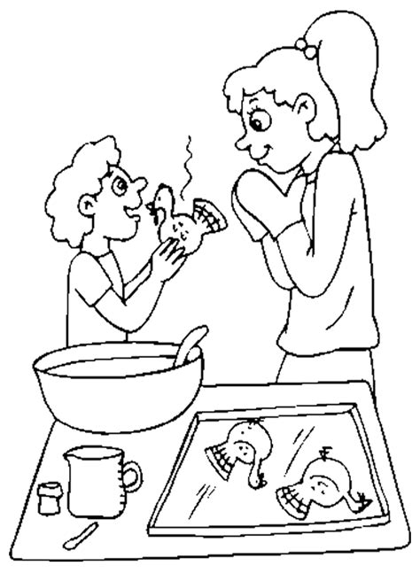 Cooking Coloring Page Coloring Home Cooking Coloring Page