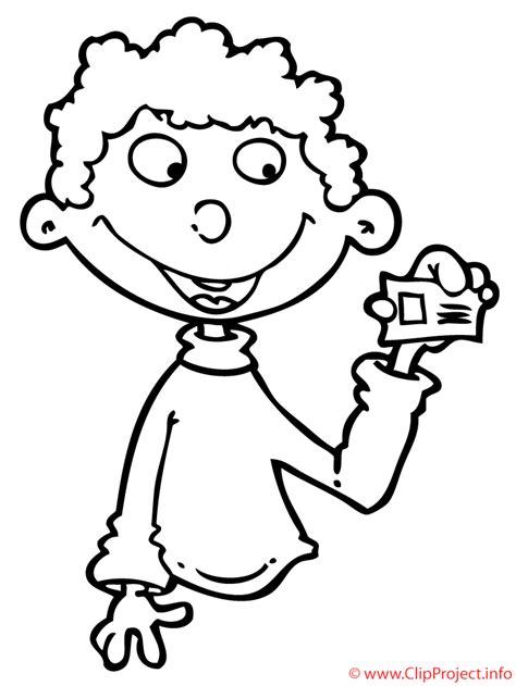 imagenes de niñas alegres para colorear nino con billete dibujo para colorear gratis
