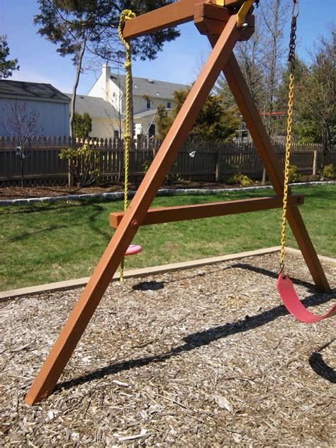 t frame swing set 7 tips for maintaining a redwood swing set all about the