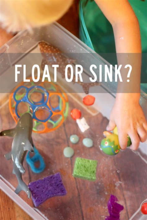 Does Float Or Sink water play experiment does it float or sink on as we grow
