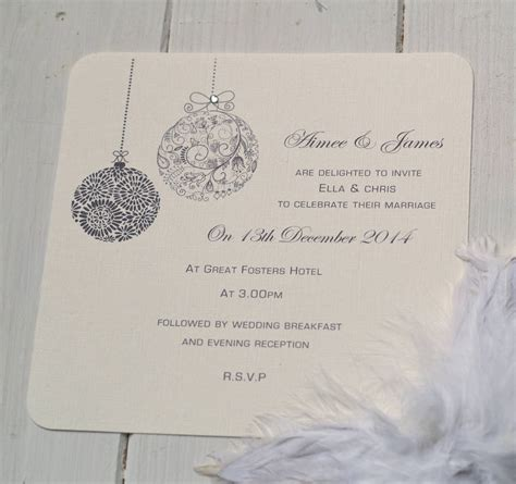 christmas themed wedding invitations by beautiful day