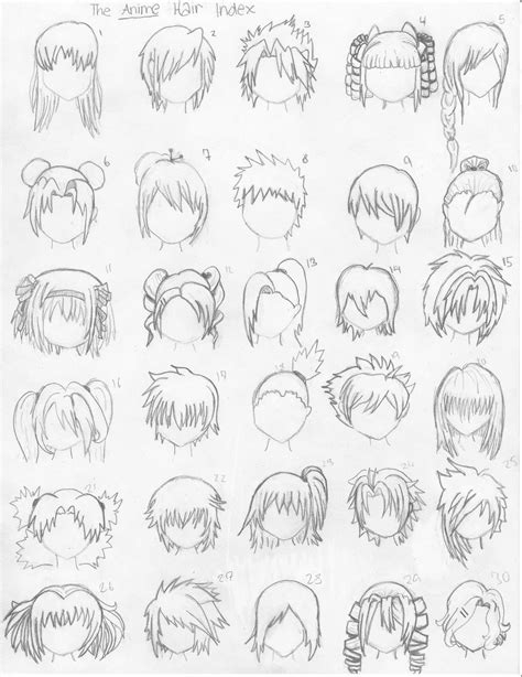 how to draw easy anime hair every little thing
