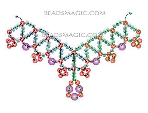 free pattern for beautiful beaded necklace levona