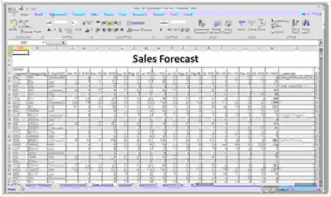 Sle Of Excel Spreadsheet by 8 Sales Forecast Spreadsheet Procedure Template Sle