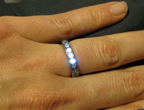 led light wedding ring led wedding ring lights up when groom to be is near photos