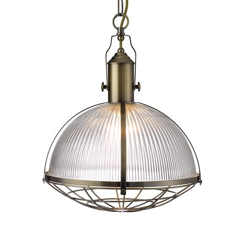 Ceiling Pendant Lights Searchlight 7601ab Industrial 1 Light Ceiling Pendant Antique Brass