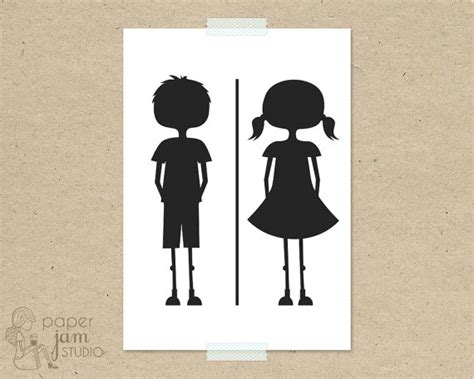 bathroom girl sign items similar to little girl boy bathroom sign wc fun toilet symbol amenities on etsy
