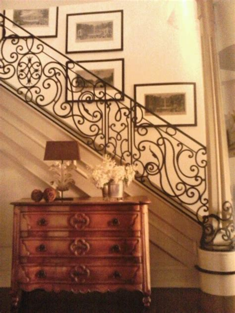 nina griscom and leonel piraino s traditional living room french style iron balustrade stairs stairs pinterest