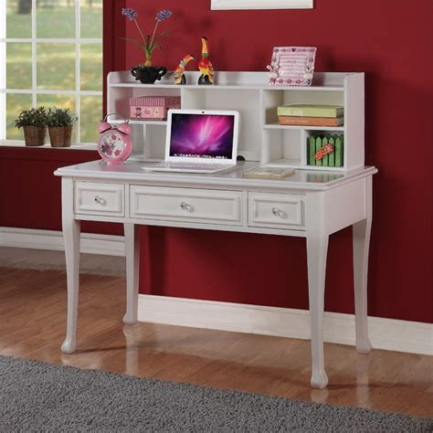 white writing desk with hutch elements jenna writing desk with hutch in white js700dkht
